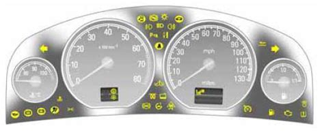 Holden Astra 2001 Dashboard Lights