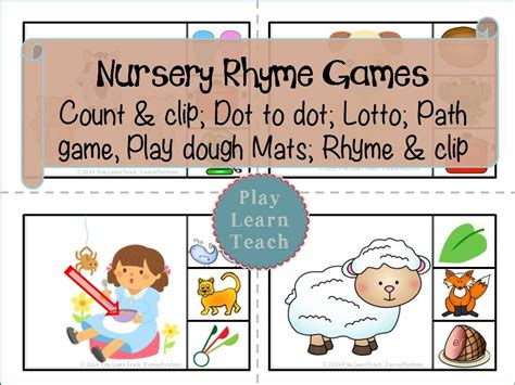 nursery rhymes play learn teach tpt products nursery 905 | 6087d67e45414e4cef1dad5d01db7b42