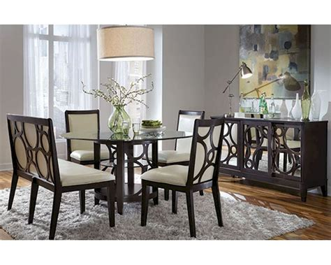 round formal dining table set najarian formal dining set w round table planet na pl7set