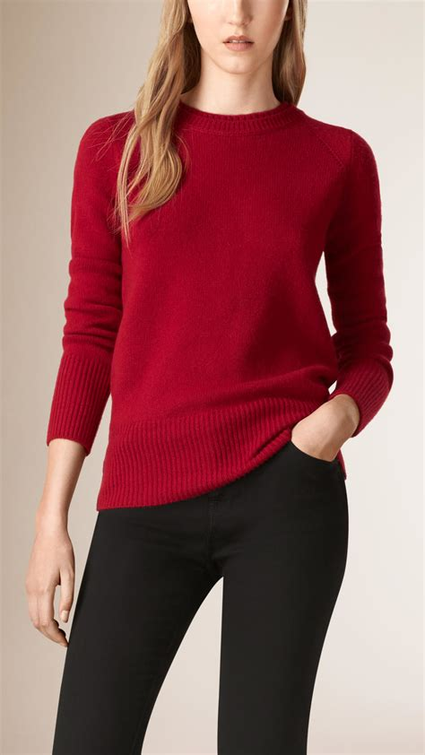 burberry sweater burberry crew neck sweater in parade lyst