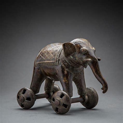 indian elephant  wheels sf origin india circa