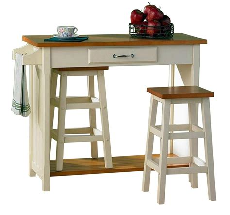 Breakfast Table With Stools by Kitchen Bistro Oak Top Breakfast Bar Table Set With 2