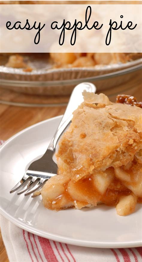 easy apple pie recipe  life  kids