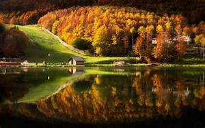 Nature, Landscape, Lake, House, Cabin, Mountain, Forest