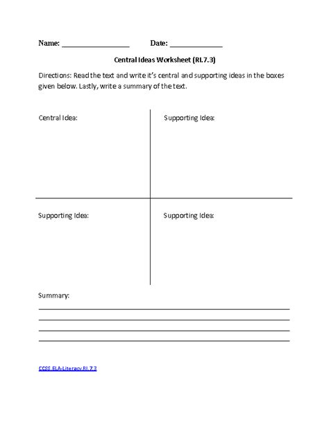 worksheets 7th grade common aligned