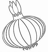 Onion Coloring Pages sketch template