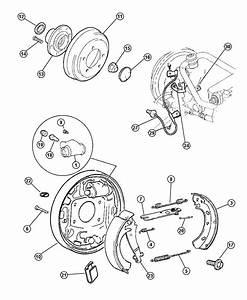 1999 Dodge Stratus Adjuster  Brake Shoe  Right   Includes