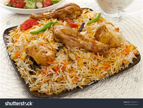 pic cuisine spicy chicken biryani most stock photo