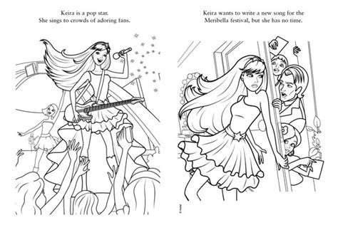 Barbie Popstar Coloring Pages