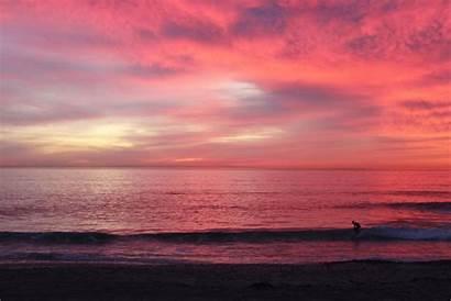 Sunset Pink Sky Beach San