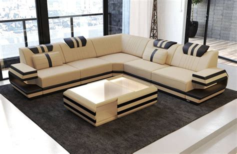 Modern Sofa L Shape by Modern Sectional Fabric Sofa San Antonio L Shape With Led