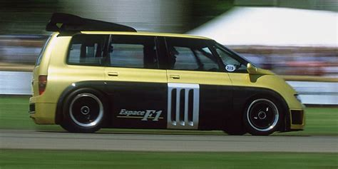 renault f1 van this is how you fire up the insane renault espace f1 van