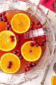 easy christmas punch cranberry juice - Christmas Punch Ideas