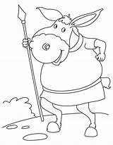 Spear Donkey Coloring Pages sketch template