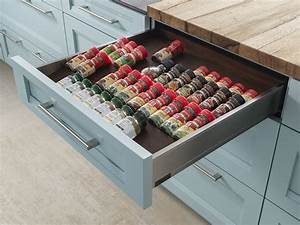 Spice Storage Drawer Wood-Mode Fine Custom Cabinetry