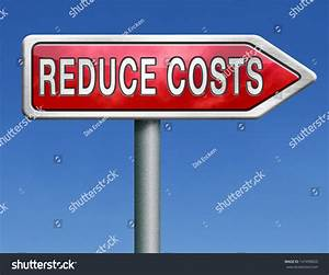 Budget Cuts Reduce Costs Cut Spendings Stock Illustration ...