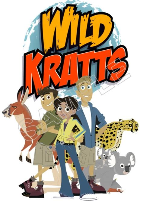 wild kratts  shirt iron  transfer decal