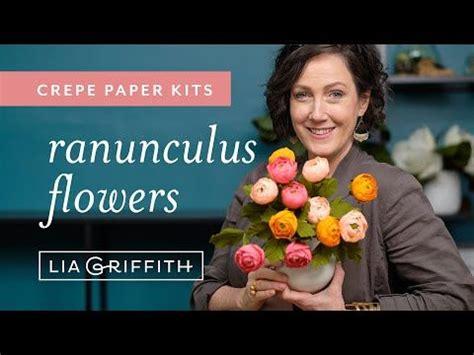 video tutorial crepe paper ranunculus flower kit