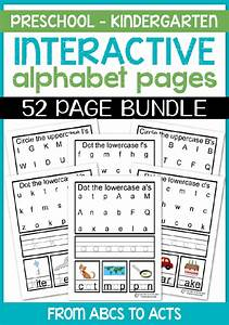 interactive alphabet pages upper lower bundle from With interactive letters