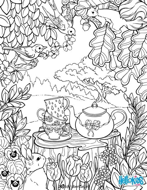 mandala secret garden coloring pages hellokids