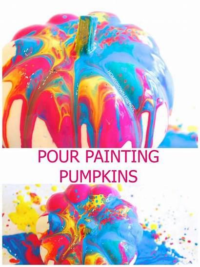 Pumpkin Painting Pour Decorating Pumpkins Activities Halloween