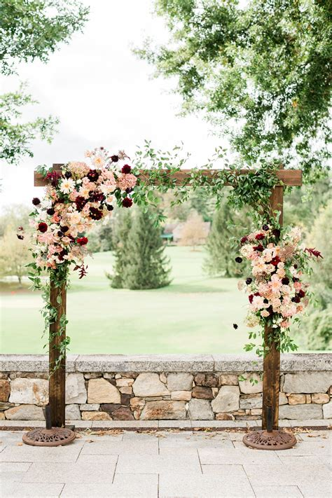Fall Burgundy Wedding Arch Fall Burgundy Wedding Arbor