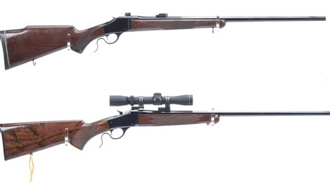 Two Browning Arms Single Shot Rifles