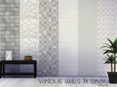kitchen backsplash wallpaper the sims resource various walls in gray by paogae sims 2265