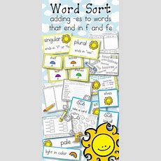 Word Sort Adding Es To Words Ending In F And Fe Cool Ali  My Tpt Products  Word Sorts, Cvc