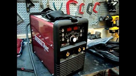 thermalarc unboxing acdc tig stick welder inverter