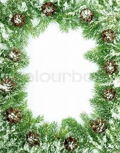Bilder Mit Weißem Rahmen : weihnachten rahmen mit schnee isoliert auf wei em hintergrund stockfoto colourbox ~ Indierocktalk.com Haus und Dekorationen