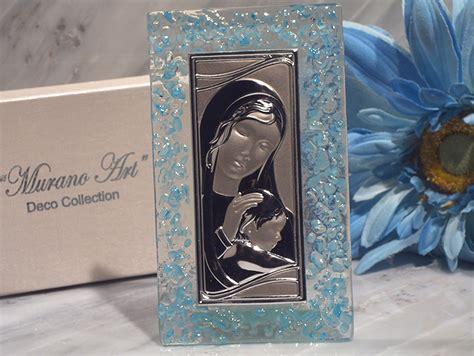 murano art deco collection rectangular glass icon