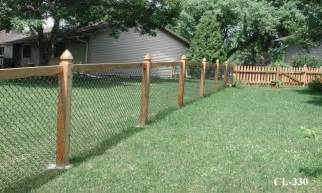 Chain Link Fence with Wood Posts