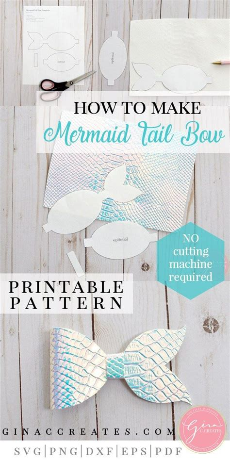 mermaid tail bow tutorial   printable bow