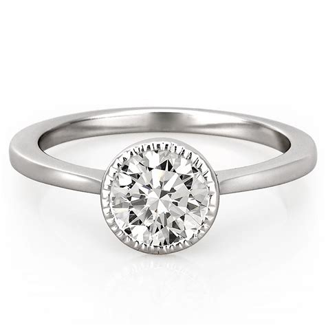 Milgrain Bezel Engagement Ring  Callan Engagement Ring