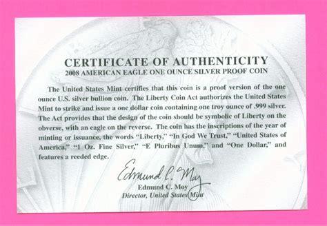 certificate  authenticity wording printable receipt