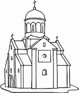 Coloring Church Europe Country Tocolor Drawing Sketch Template sketch template