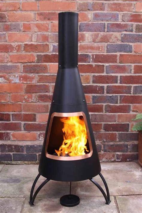 large steel chimenea modern chiminea patio heater fire