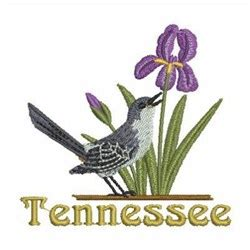tennessee bird flower embroidery designs machine
