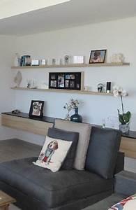 Etagere Murale Salon : meubles de salon et tag res murales cr ation sur mesure ~ Teatrodelosmanantiales.com Idées de Décoration