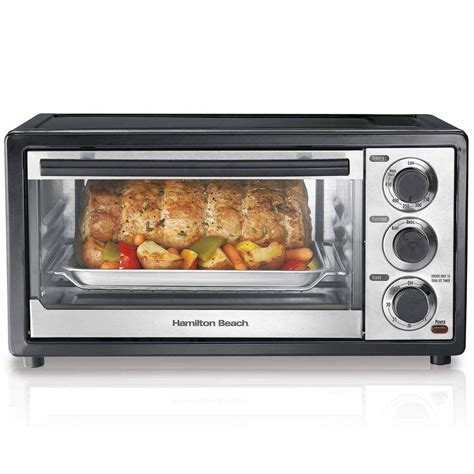 hamilton countertop oven hamilton 6 slice capacity toaster oven 31508