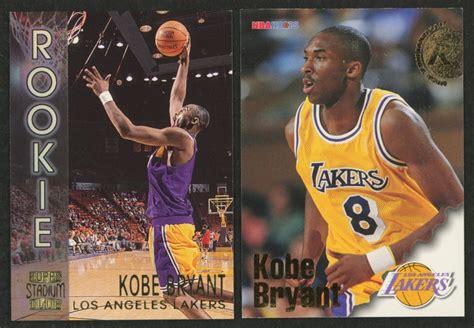 1999 nba hoops decade hoopla #150 kobe bryant: Lot of (2) Kobe Bryant Rookie Cards with 1996-97 Hoops #281 RC & 1996-97 Stadium Club Rookies 2 ...