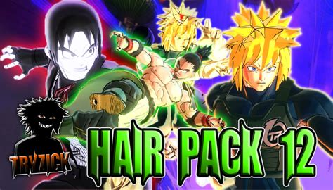 tryzick hair pack  xenoverse mods