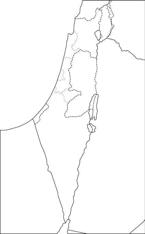 politische landkarte von israel mit verwaltungsgrenzen