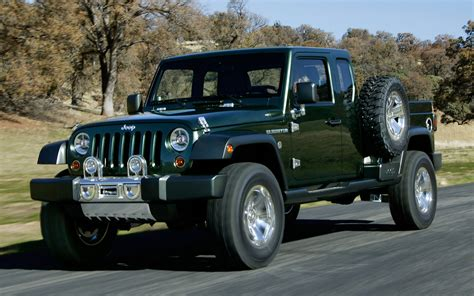 jeep wrangler pickup concept jeep gladiator front view