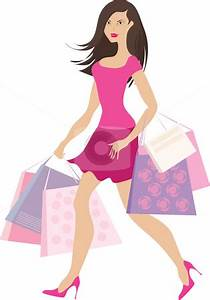 lady-with-shopping-bags-clipartshopping-girl2-vector ...