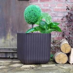 Grand Pot De Fleur Pas Cher : pot de fleur carr en r sine lam grand achat vente ~ Premium-room.com Idées de Décoration