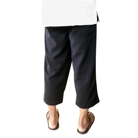 jual celana sirwal pria al kayyis warna hitam celana taqwa celana shalat solat celana  atas