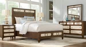 cindy crawford home harlowe brown 7 pc queen bedroom