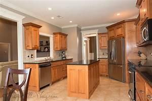 Gray kitchen walls maple cabinets quicua